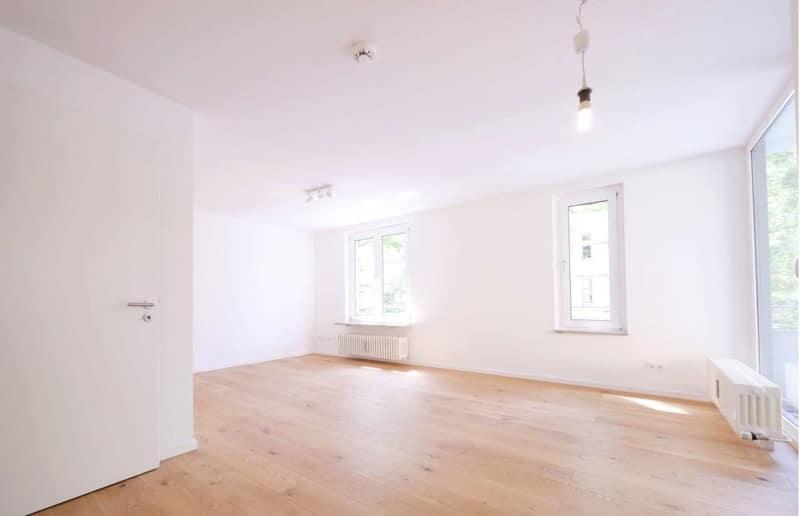 Top sanierte 2 Zi. Wohnung mit überdachtem Balkon - Wohnzimmer