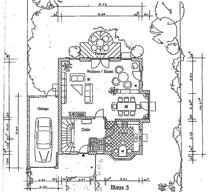 Exquisite freistehende Villa in perfekter Lage mit großem Garten in Vaterstetten - Grundriss Ergeschoss
