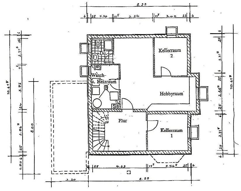 Exquisite freistehende Villa in perfekter Lage mit großem Garten in Vaterstetten - Grundriss Untergeschoss