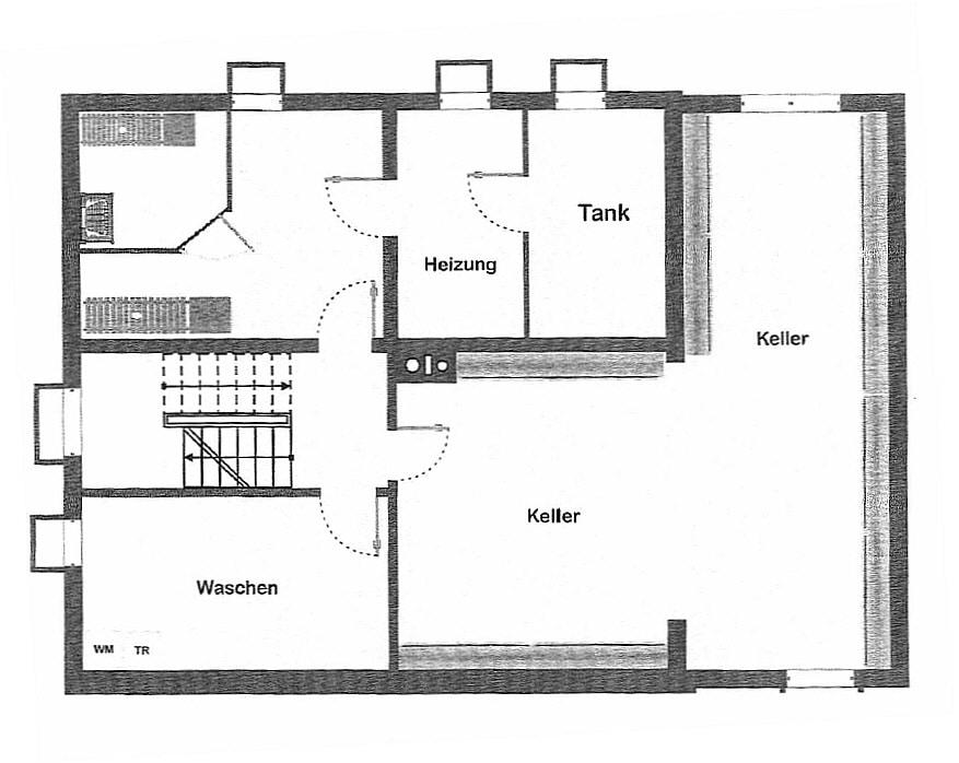 Große. helle Doppelhaushälfte mit Wintergarten in ruhiger Lage von Brunnthal / Faistenhaar - Grundriss UG