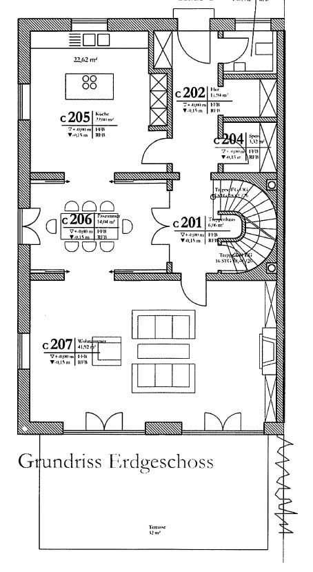 Erstbezug: Exlusives, großes Reiheneckhaus in exponierter Alleinlage in Oberpframmern für gehobene Ansprüche - Grundriss_EG