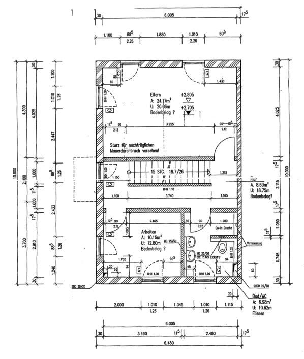 Neuwertige und außergewöhnliche Doppelhaushälfte in Ottobrunn - Grundriss OG