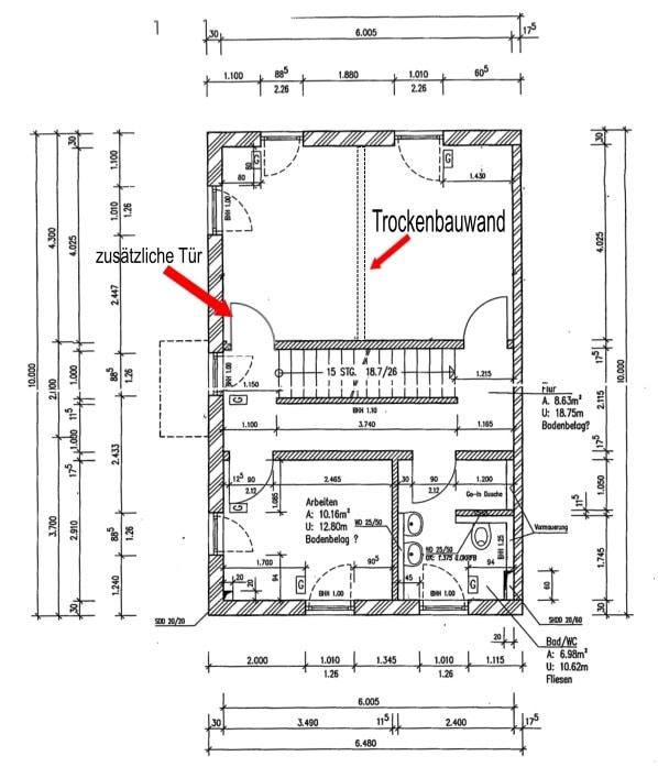 Neuwertige und außergewöhnliche Doppelhaushälfte in Ottobrunn - Grundriss OG Variante