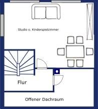 Renovierungsbedürftiges REH in ruhiger, gewachsener Lage von Putzbrunn / Waldkolonie - Grundriss DG