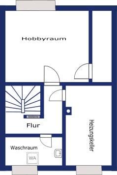 Renovierungsbedürftiges REH in ruhiger, gewachsener Lage von Putzbrunn / Waldkolonie - Grundriss UG