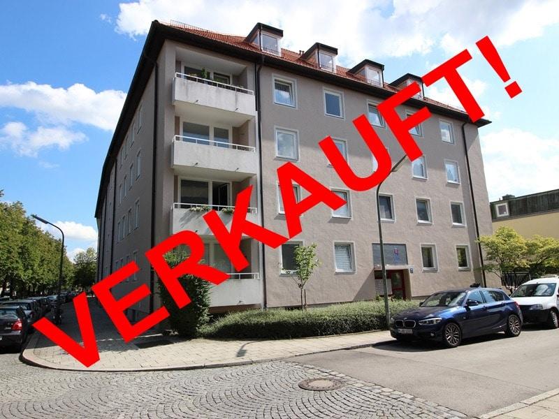 Attraktive 3,5 Zimmerwohnung mit Westbalkon in ruhiger Lage von Schwabing - Aussenansicht