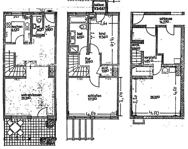 Wohnen wie in einem Haus: 3 Zimmer Gartenmaisonettewohnung mit super Ausstattung - Grundriss