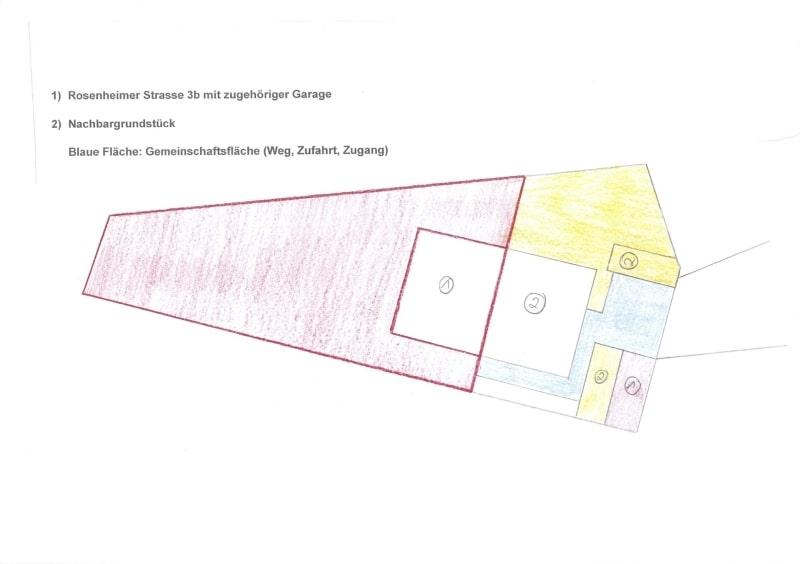 Handwerker aufgepasst: DHH mit großem Grundstück im Ortszentrum von Höhenkirchen - Aufteilungsplan