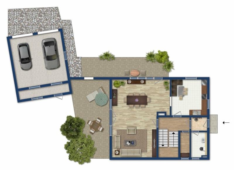 Attraktives, vermietetes Einfamilienhaus mit eingewachsenem Süd- und Westgarten in Grasbrunn - Grundriss EG