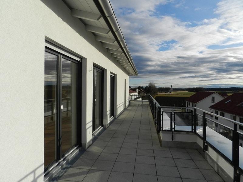 Perfekte 3 Zimmer-Dachterrassenwohnung in Höhenkirchen-Siegertsbrunn - Dachterrasse
