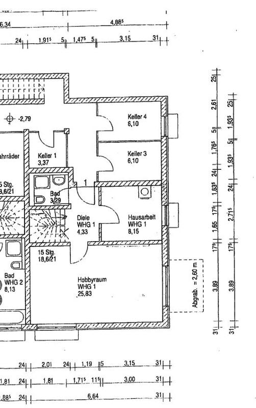 2,5 ZKB Maisonettewohnung mit großem Südwestgarten in ruhiger Lage von Brunnthal - Grundriss UG