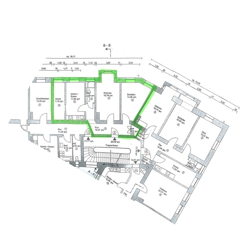 Modernisierte 3 Zimmer Wohnung direkt am Tegernseer Platz in Obergiesing - Grundriss