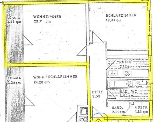 Großzügige 2 Zimmerwohnung mit kleinem Garten in Laim - Grundriss