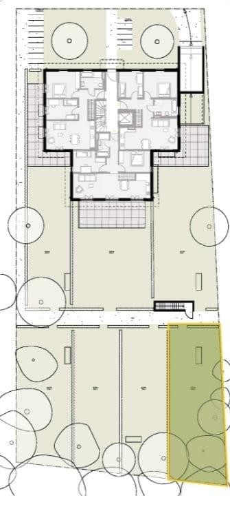 Wohnen mit Stil! Exklusive Neubau 4 ZKB Penthousewohnung mit 3 Balkonen & eigenem Gartenanteil in Taufkirchen - Grundriss Garten