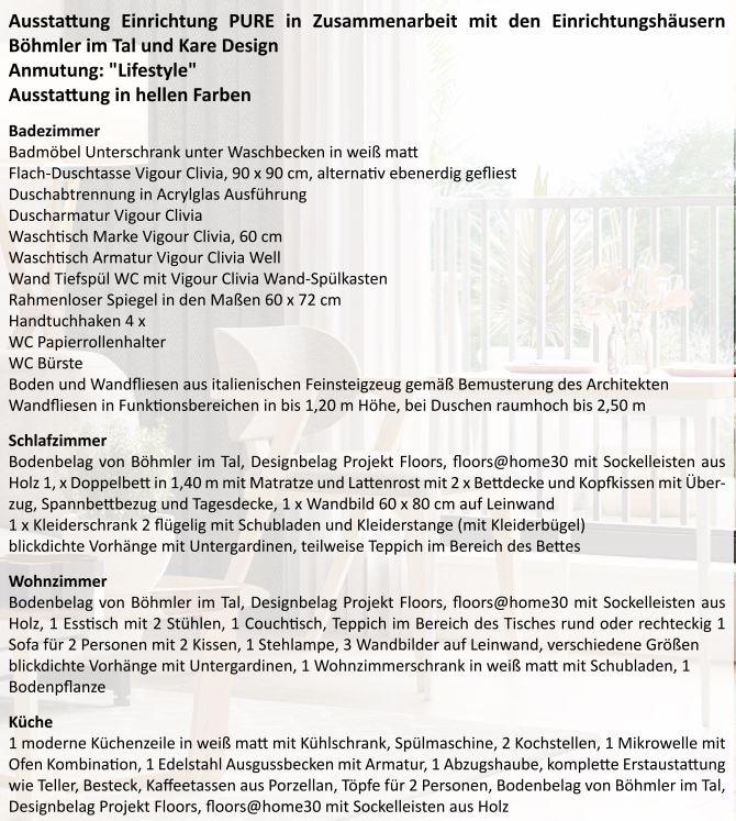 Neubau - Moderne voll möbilierte 2 Zimmerwohnung für Kapitalanleger - Ausstattung_Einrichtung_pure