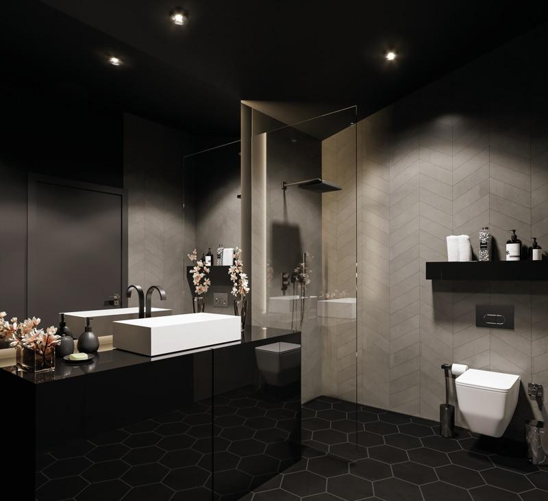 Neubau - Moderne voll möbilierte 2 Zimmerwohnung für Kapitalanleger - Design_Badezimmer