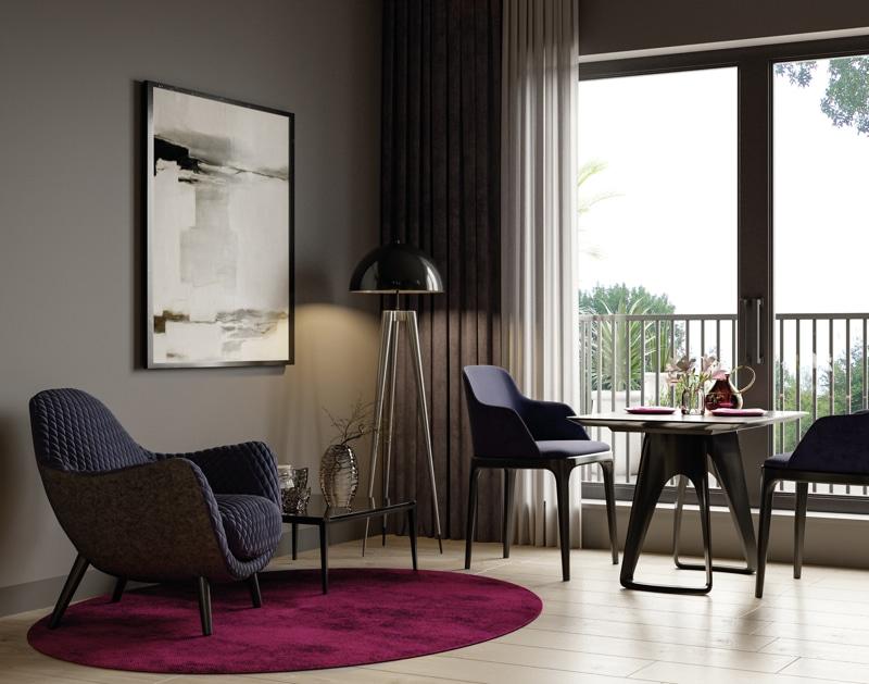 Neubau - Moderne voll möbilierte 2 Zimmerwohnung für Kapitalanleger - Design_Wohnzimmer