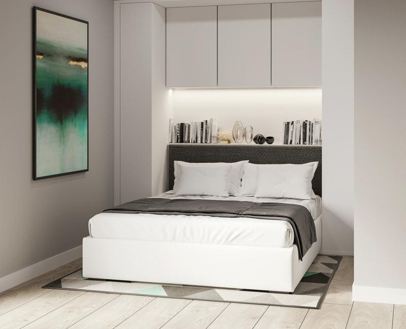 Neubau - Moderne voll möbilierte 2 Zimmerwohnung für Kapitalanleger - Schlafzimmer_PURE