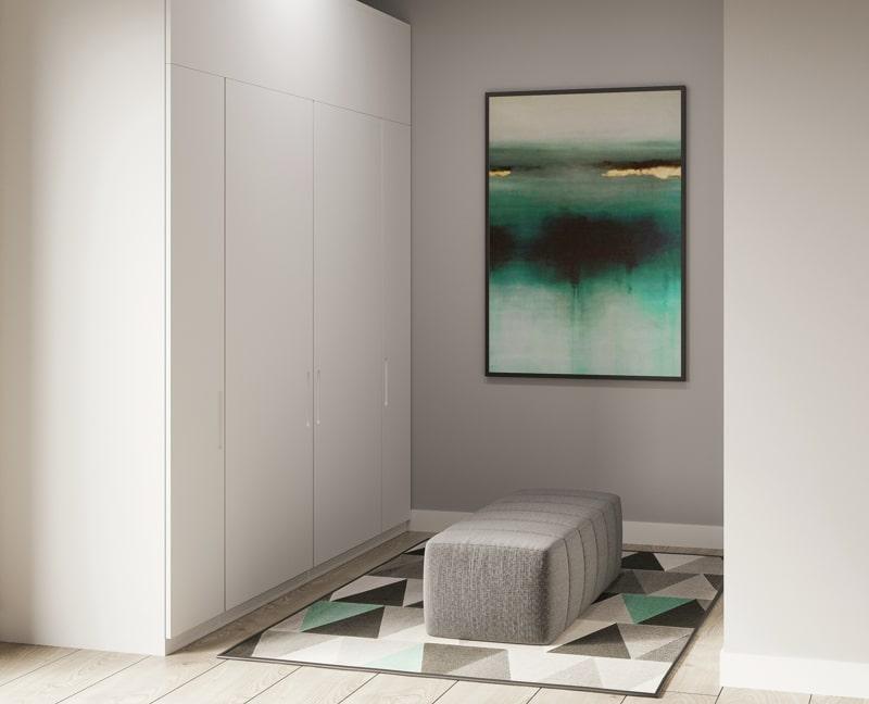 Neubau - Moderne voll möbilierte 2 Zimmerwohnung für Kapitalanleger - Pure_Kleidungsbereich