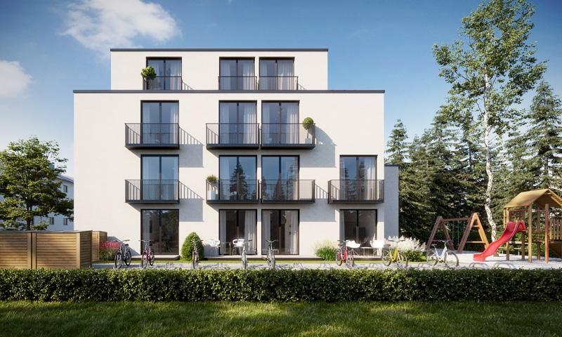 Neubau - Moderne voll möbilierte 2 Zimmerwohnung für Kapitalanleger - Aussenbild Visual
