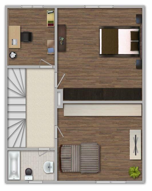 Modernisiertes Reihenmittelhaus in Riemerling mit günstigem Erbbauzins - Grundriss OG