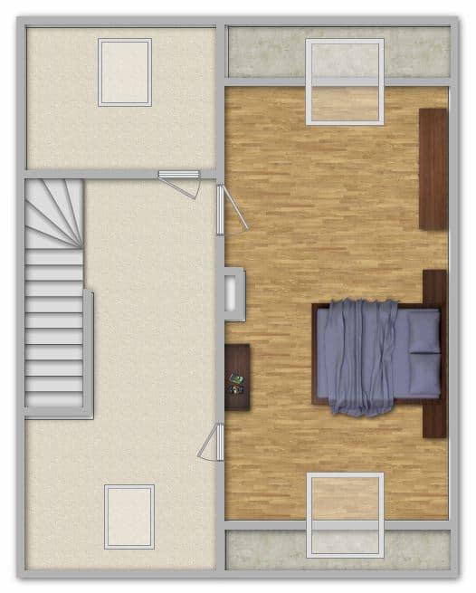 Modernisiertes Reihenmittelhaus in Riemerling mit günstigem Erbbauzins - Grundriss DG