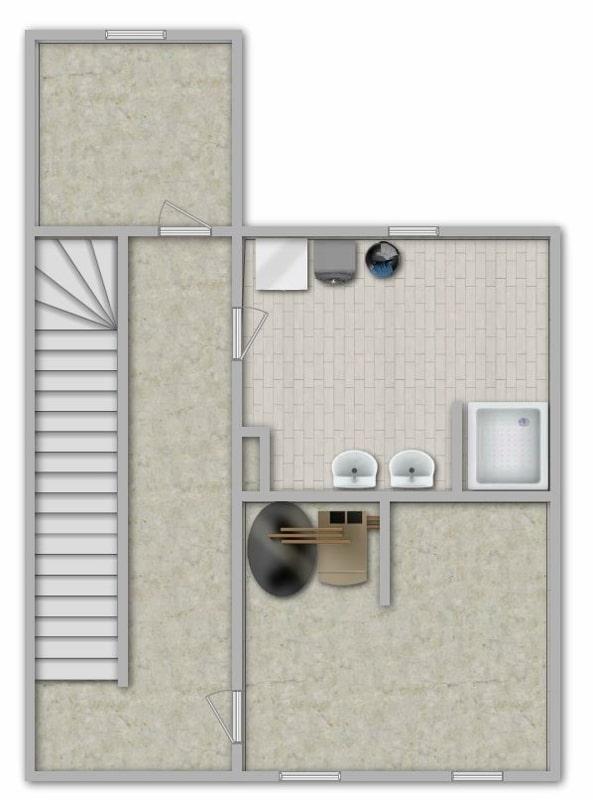Modernisiertes Reihenmittelhaus in Riemerling mit günstigem Erbbauzins - Grundriss UG