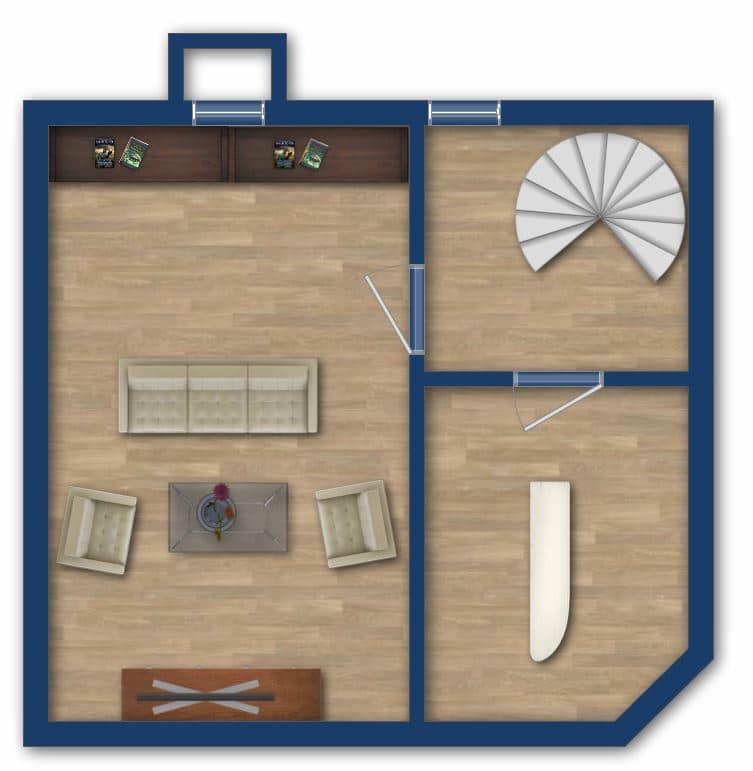 Attraktive große 3,5 ZKB Gartenwohnung plus Hobbyraum in Pliening / Gelting - Grundriss_UG