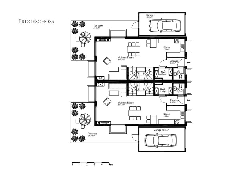 Villenhälfte in klassischer Architektur in bevorzugter Lage in München-Trudering - Grundriss EG