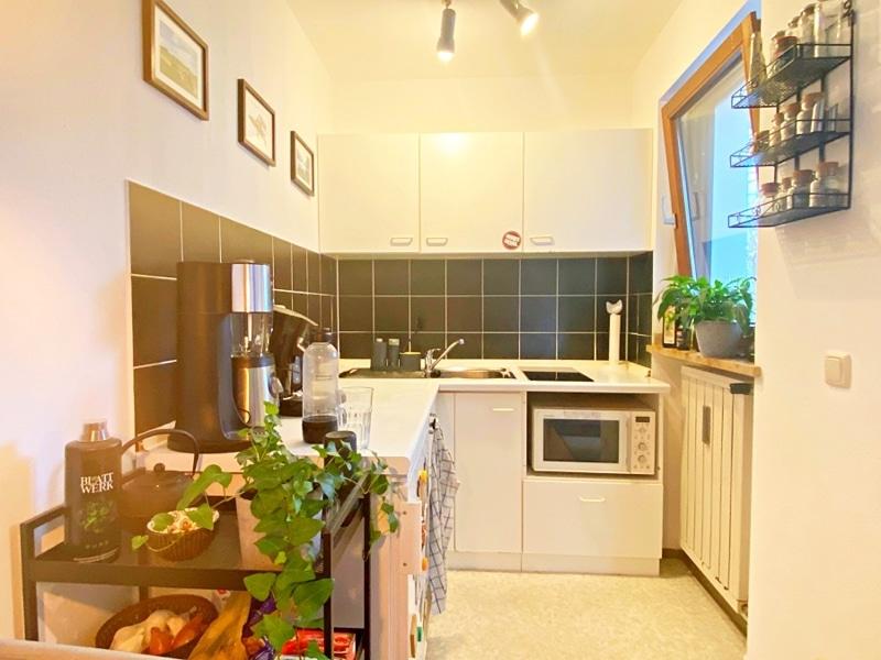 Gemütliches 1 ZKB Apartment mit kleinem Garten in zentraler Lage von Unterhaching - Küchennische