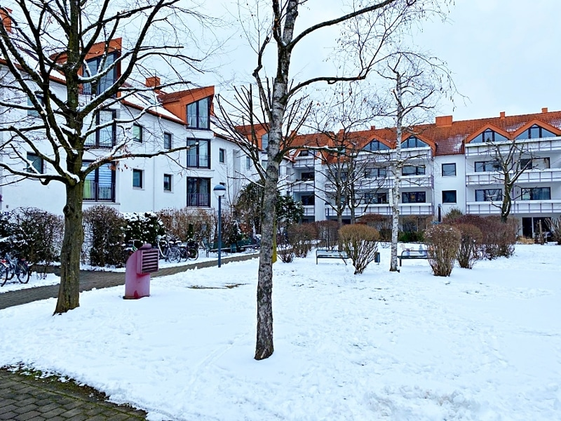 Gemütliches 1 ZKB Apartment mit kleinem Garten in zentraler Lage von Unterhaching - Außenansicht
