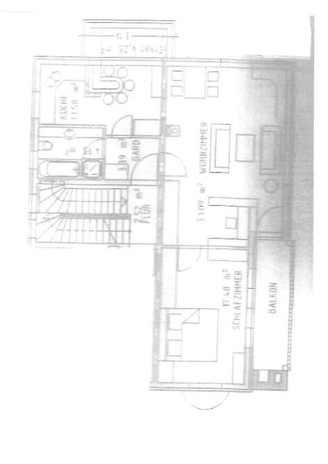 Großzügige, lichtdurchflutete 2 ZKB Wohnung mit Südbalkon in Siegertsbrunn - Grundriss