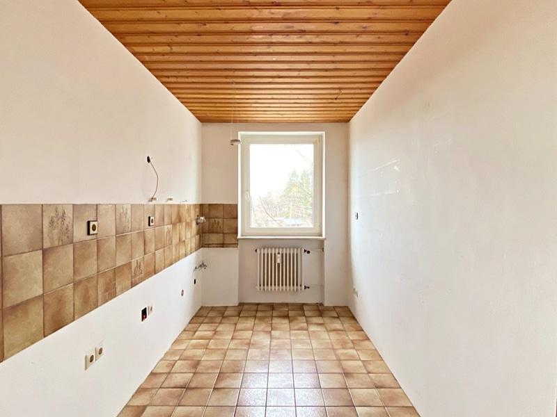 Renovierungsbedürftige 3 ZKB Wohnung mit Südbalkon in ruhiger Lage von Milbertshofen - Küche