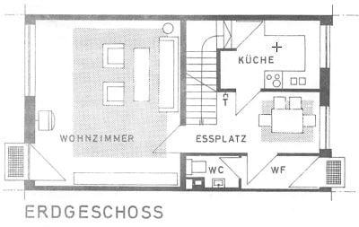 Günstig wohnen in einem kleinen, gepflegten RMH in ruhiger Lage von Ebersberg - Grundriss EG