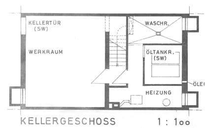 Günstig wohnen in einem kleinen, gepflegten RMH in ruhiger Lage von Ebersberg - Grundriss UG