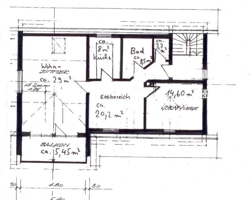 Gemütlich - großzügig - ruhig gelegen: 2.5 Zimmer-Dachgeschosswohnung mit Südbalkon in Aying - Grundriss